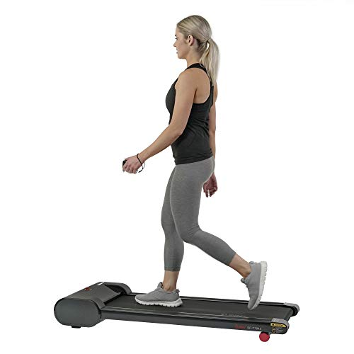 Sunny Health & Fitness Walkstation Slim Flat Treadmill for Under Desk and Home Fitness (SF-T7945)