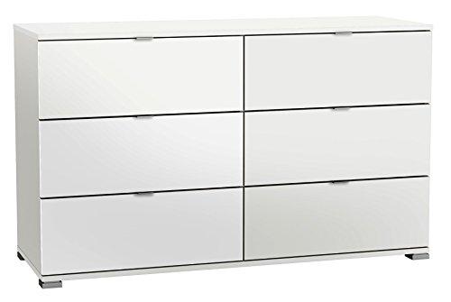 Kommode weiß B 120 cm Jugendzimmer Schlafzimmer Anrichte Schrank Sideboard Highboard Standschrank Schubladenkommode