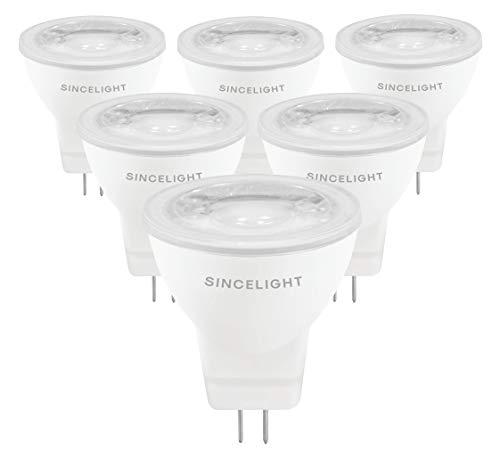 LED MR11 Reflektorlampe, 12V AC/DC, mit GU4-Sockel, nicht dimmbar, 280 Lumen Ersetzt 25 Watt Halogenlampen, 35° Ausstrahlungswinkel, Neutralweiß - 4000 Kelvin, 6er-Pack