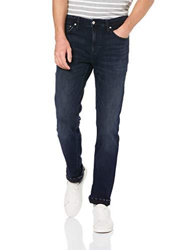 Calvin Klein Men's Slim Fit Jeans, Boston Blue/Black, 34W x 32L