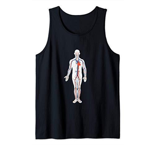 Sistema Circulatorio Cardiólogo Cardiovascular Camiseta sin