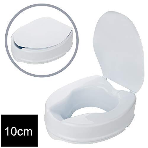 1PLUS Health Toilettensitzerhöhung Toilettenaufsatz mit Deckel (10 cm)