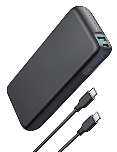 Power Bank USB C PD 60W Power Delivery 20000mAh Quick Charge 3.0 Powerbank mit Type C Kabel für iPhone 11/12/13 Pro Max XS XR Air Pro usw
