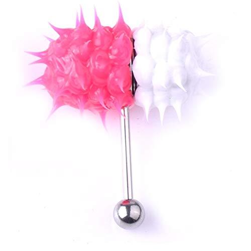 Anillo de Lengua Vibrante de Acero Inoxidable Bar Barbell Stud Tongue Barbells Pill Tongue Ring Cuerpo Humano Piercing Piercing Jewelry - 16#