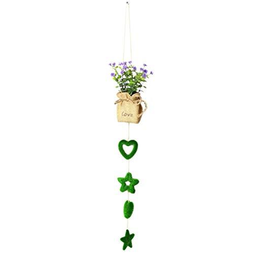 KESYOO 1 Piezas 60 cm Planta Artificial Planta en Maceta decoración navideña Adorno de Escritorio Creativo de Navidad (Estilo corazón y Pentagrama, Verde)