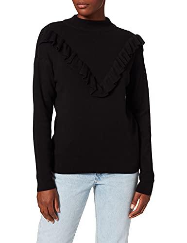 New Look Damen Playsuit Ruffle Front, schwarz (black), Gr. S