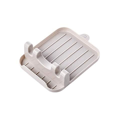 NUSSKACKA 波パターン 耐久性のある 折りたたみ式 食器乾燥 パンポットカバー ヘラ スプーン レスト 収納棚 白い