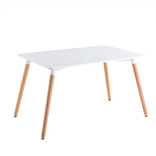 Joolihome Dining Table, Rectangular Wooden Table Study Writing Working Desk for Home, Office, Dining Room, Kitchen (Only Table)