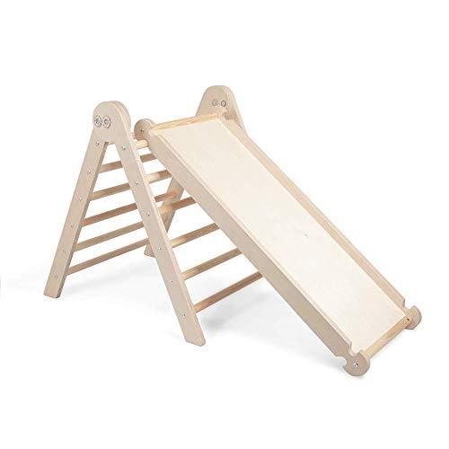 MAMOI Pikler Dreieck v.2 für Kinder Modernes   Klettergerüst Indoor Kinder minimalistisches Design   Nachhaltig Kletterdreieck für Kleinkinder aus natürlichem Holz   100% ECO   Made in EU