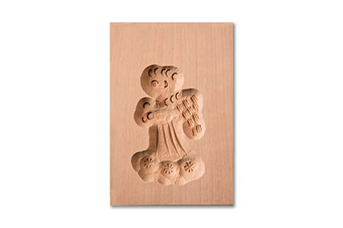 Spekulatiusform Engel, Holz Form Birnbaum, Spekulatius-Model für Anisgebäck, 8,5 x 6 cm