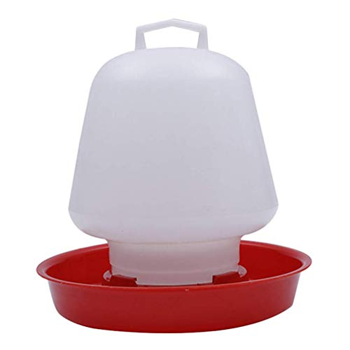 Bebedero para Aves de Corral - Fuente de plástico para Aves Colgando, Kit de Bebedero para Aves para la decoración de Jardines de Aves y Animales