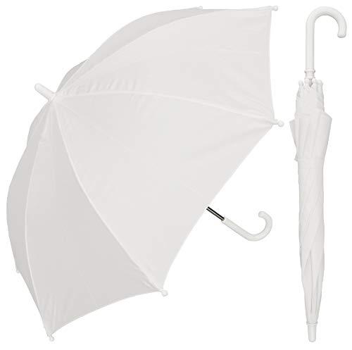 RainStoppers W101CHWHITE 34-Inch Children's Umbrella, White