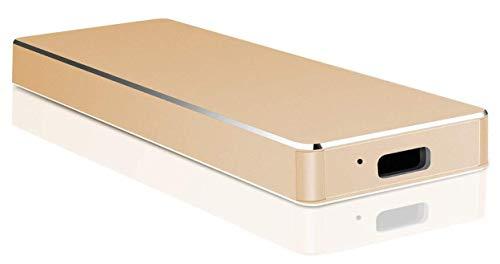 External Hard Drive 1TB 2TB, USB 3.1 Typ C Hard Drive Strong Storage HDD für PC, Laptop, Mac (2TB-C Gold)