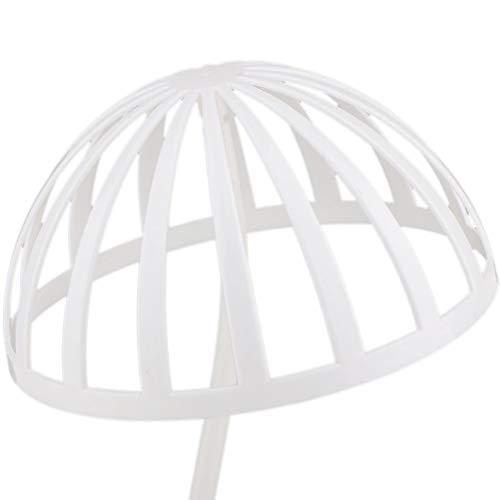 Soporte de Sombrero Estante de exhibici/ón de Peluca de Metal con Forma de Bola Hueca Decorativa de Mesa para Tienda de hogar