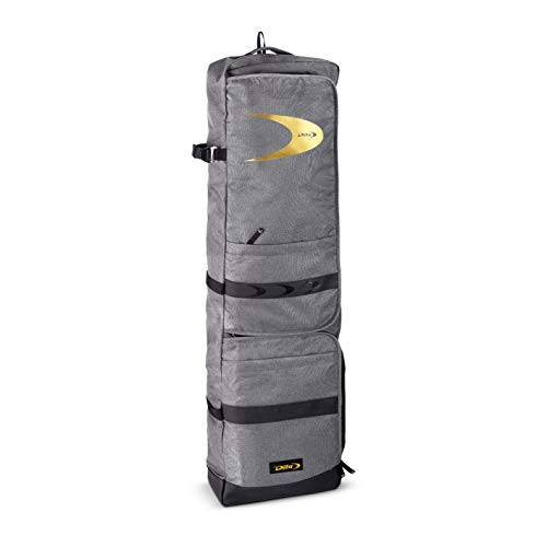 New 2020 Dita Hockey Stickbag Giant Kit and Stick Backpack Bag - Grey and Gold (+ FREE Sports Innovation Chamois Grip)