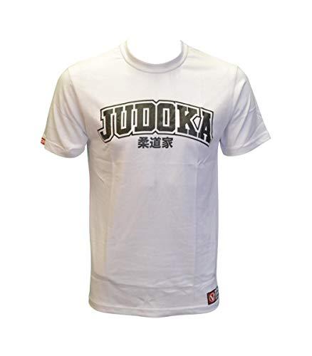 Valor Judoka Judo Artes Marciales Camiseta, Color Blanco, tamaño Large