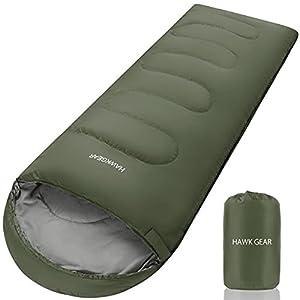 [HAWK GEAR(ホークギア)] 寝袋 シュラフ マミー型 キャンプ アウトドア -15度耐寒 簡易防水 オールシーズン