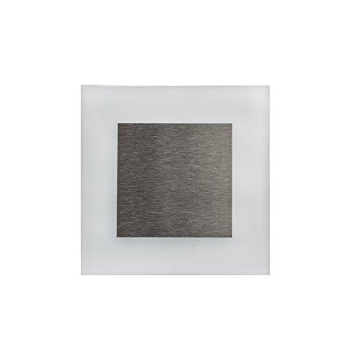 KOBERT GOODS - LED-trapverlichting 1,3 W met 230 V [warm en koud wit] in verschillende vormen Hoogwaardige inbouwspots voor de muur, verlichting van trappen en trapspots van glas/aluminium M Apus Led koudwit