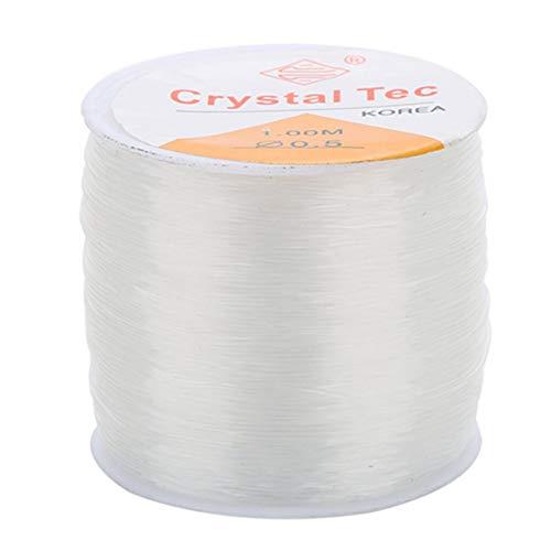 YXDS Cadena de Hilo de cordón de línea de Abalorios para Bricolaje, Collar, Pulsera, línea de fabricación de Joyas