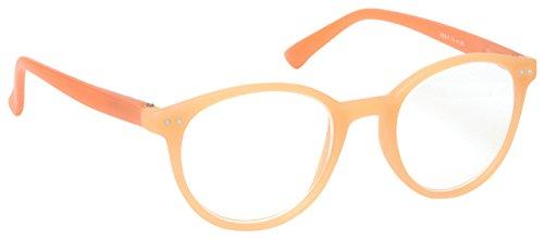 The Reading Glasses Company Light Orange Matt Finish Lightweight Readers Designer Style Womens Ladies Spring Hinges R25-X +1.75