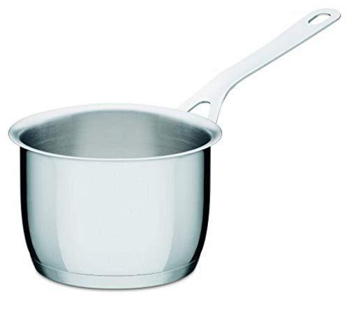 Alessi Ajm105/14 Pots&pans Casserole à Long Manche en Acier Inoxydable 18/10 Brillant, Ø 14 Cm