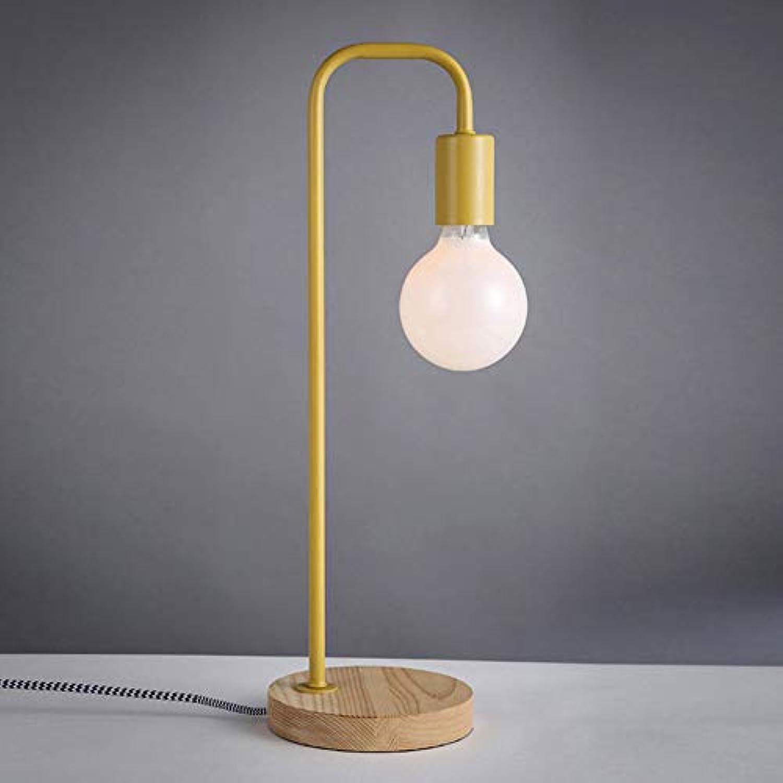 FAFY Neuheit Nachtlicht Schreibtischlampe Tisch Nachtlesung Büro Einfache Augen Pflege Home Study Arbeit Geschenk (Ohne Lampe),Gelb-5.9  18.5in