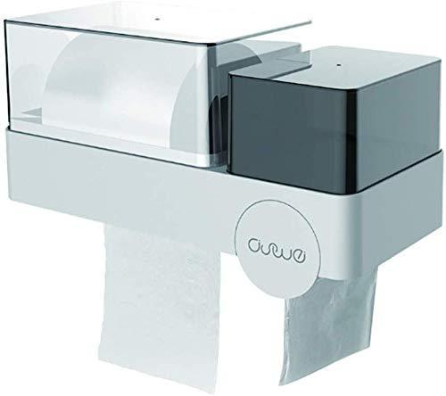 Decoración baño Portarrollos rollo de papel plegable de toallas de papel Multifold Toalla Dispensador de toallas Sanitaria del carril de montaje en pared 3M auto adhesivo a prueba de agua y polvo con