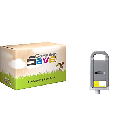 CompAndSave Replacement for Canon ImagePROGRAF iPF815 MFP Printer Inkjet Cartridge, Canon PFI-703Y Yellow Ink Cartridge