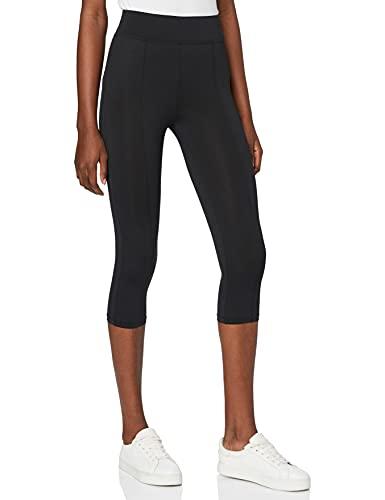 Amazon-Marke: find. Damen Verkürzte Leggings, Schwarz (BLACK), 38, Label: M