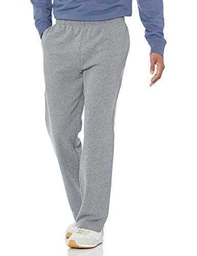 Amazon Essentials Fleece Sweatpant Pantalones, Gris (Light Grey Heather), Large