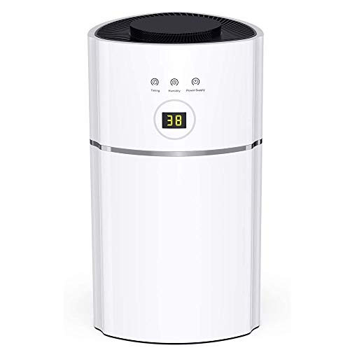 Sale!! HWZQHJY Mini Dehumidifiers for Small Space Up to 1900 Cubic Feet(215 sq ft), Quiet Compact Home Electric Dehumidifier for Kitchen, Bedroom, Basement, Caravan, Office, Garage, RV