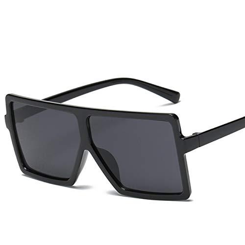 Vibner Gafas de Sol Gafas De Sol Cuadradas De Gran Tamaño A La Moda, Gafas De Sol Retro De Diseñador De Lujo para Mujer, Uv400 C1
