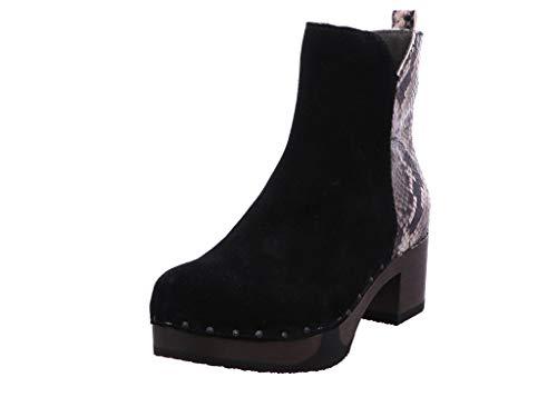 Softclox S3493 JAEMI kasjmier-dier - dames laarzen - 01-zwarte slang