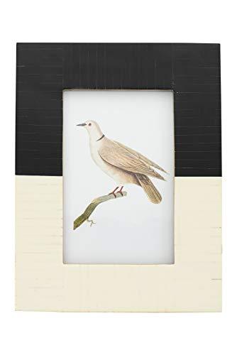 Creative Co-op Bilderrahmen, Kunstharz, für 10 x 15 cm, Schwarz/Weiß