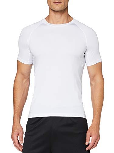 OXENSPORT Funktionsshirt Herren, Kompressionsshirt Fitness Kurzarm, Laufshirt Männer, Sportshirts Atmungsaktiv (Weiß, Large)