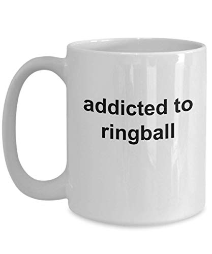 Taza de Ringball RBL Player Gift Novedad Taza de café Mejor jugador deportivo Coa-ch y Fan Present Ring Ball League Addicted To It