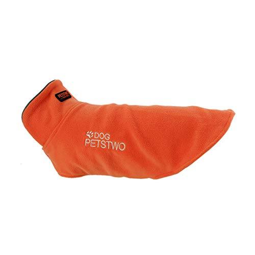 Outdoor Fleece Jacke für Kleine Mittlere Große Hunde Sport Gilet Winter Herbst Thermal Coat Weste Haustier Bequeme Kleidung Hundemantel Verstellbare Vest Pullover (XXXL, orange)