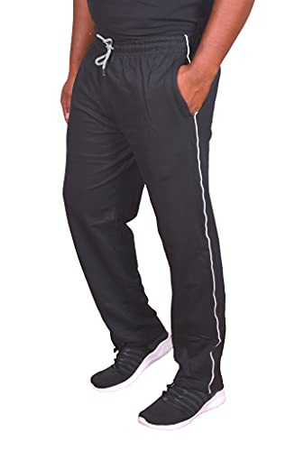 Univerz Men's Regular Fit Track Pants Combo (Free Size/Waist 32 to 36 Inches) - Pack of 2 Black, Grey