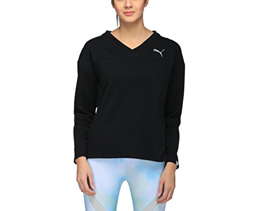 Puma Damen Swagger Crew W Sweatshirt, Black, S