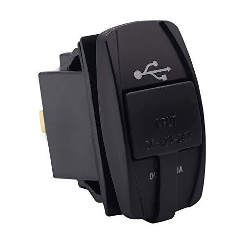 GEARSTONE Cargador de Coche USB Cargador de Coche USB Dual Cargador de Carga r/ápida para Negro