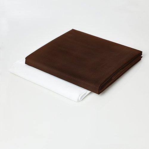 Lumaland Housse revêtement Externe Deluxe pour Pouf géant XXL 140 x 180 cm Indoor Outdoor Marron