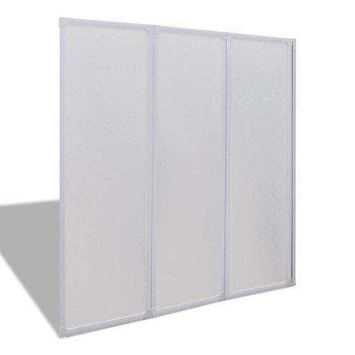 Badewannen Faltwand Duschabtrennung Duschwand 141 x 132 cm 3 Platten Faltbar