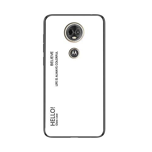 Custodia® Farbverlauf Anti-Kratzer Glas Hülle Kompatibel für Motorola Moto E5 Plus (1)