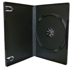 DragonTrading - 50custodie per DVD singole, 14mm, colore nero