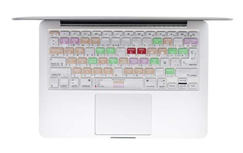 """Protector Skin de Teclado para Macbook en Español Mac Osx compatible con: Macbook Pro 13"""" A1278 /…"""