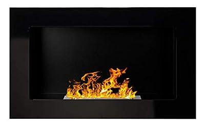 Bio Ethanol Fire BioFire Fireplace Modern 650 x 400 High gloss black …