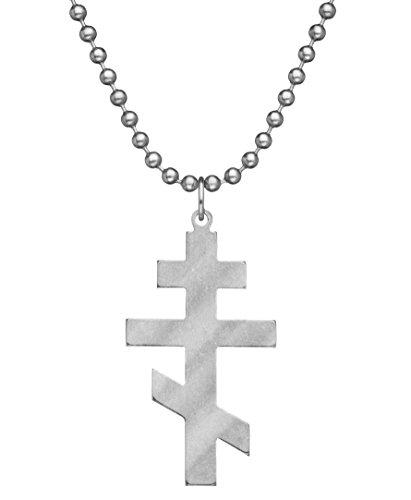 "GI JEWELRY - Genuine U.S. Military Issue Orthodox Cross with Beaded Chain - 24"""