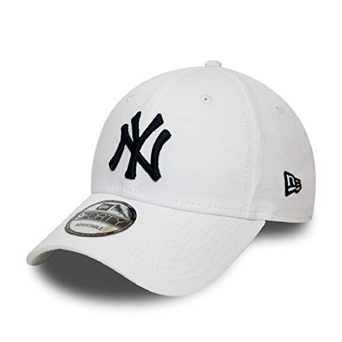 New Era New York Yankees 9forty Adjustable Kids Cap - League Essential - White/Navy - Child