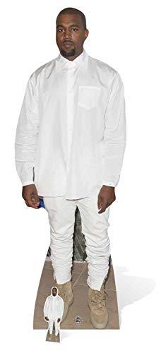 Star Einbauöffnungen Life Größe Pappe Kanye West, Mehrfarbig