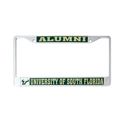 Desert Cactus University of South Florida USF Bulls NCAA Metal License Plate Frame for Front Back of Car Officially Licensed (Alumni)